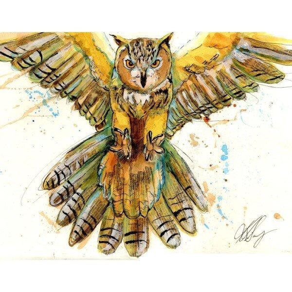 Owl Mixed Media Lesson Plan